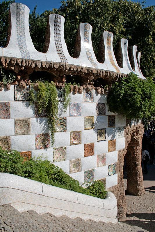 Am Eingang von Park Güell
