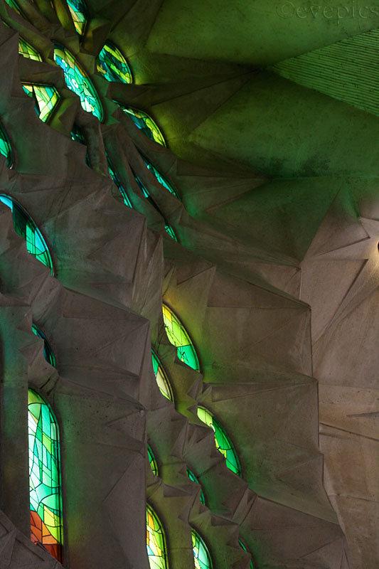 Sagrada Familia Seitenschiff-Fenster