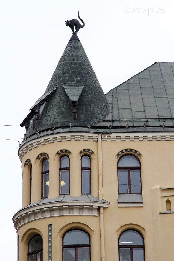 Detail: Katzenhaus / Cat House, Riga